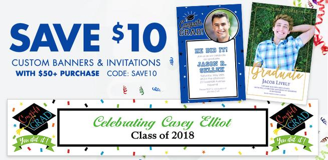 Custom Graduation Invitations & Banners