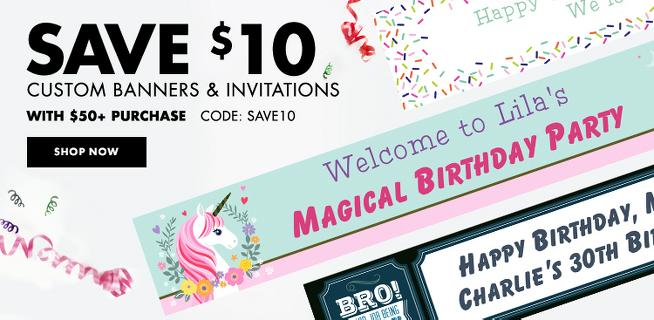 Custom Banners and Invitations
